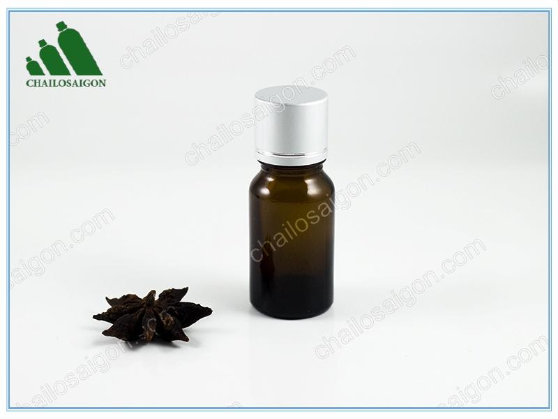 Chai thủy tinh tinh dầu màu nâu