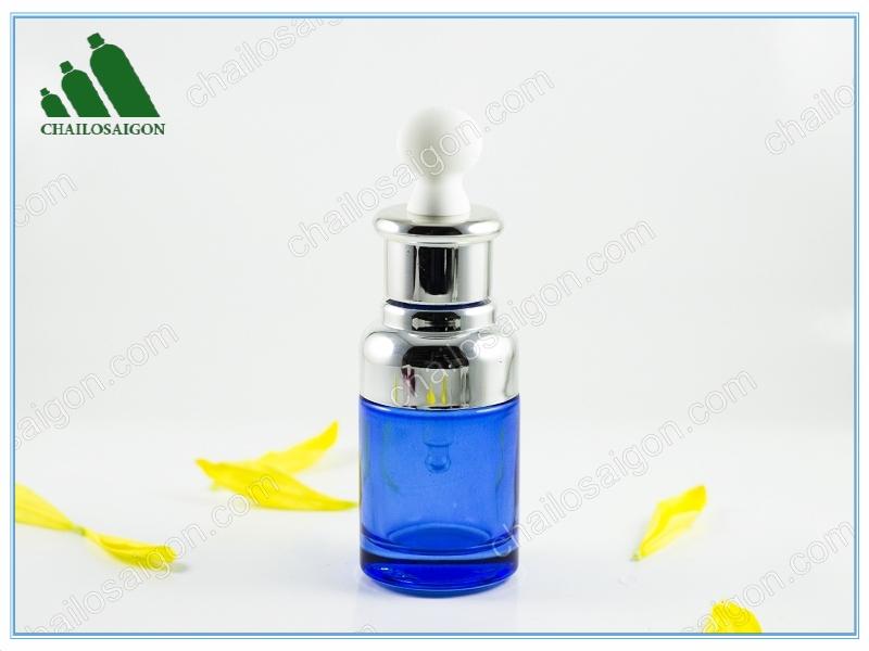 Chai tinh dầu xanh dương cao cấp