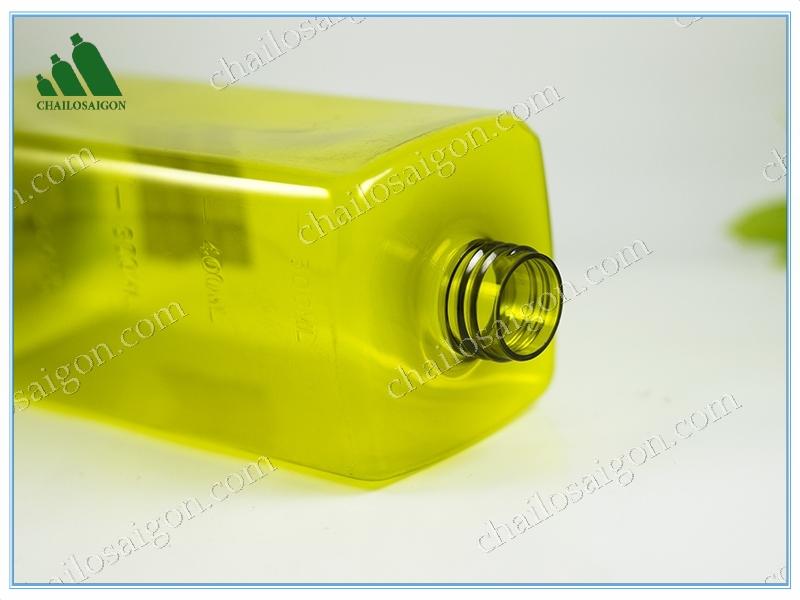 chai vuông nhựa PET thể tích 500ml cổ 24mm tại HCM