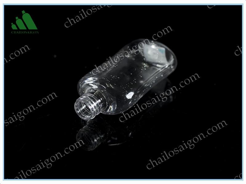chai nhựa trong suốt cổ 24mm thể tích 170ml