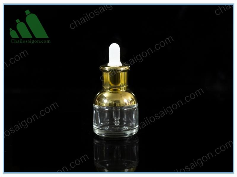 Chai tinh dầu nắp bóp chất liệu thủy tinh cỡ nhỏ