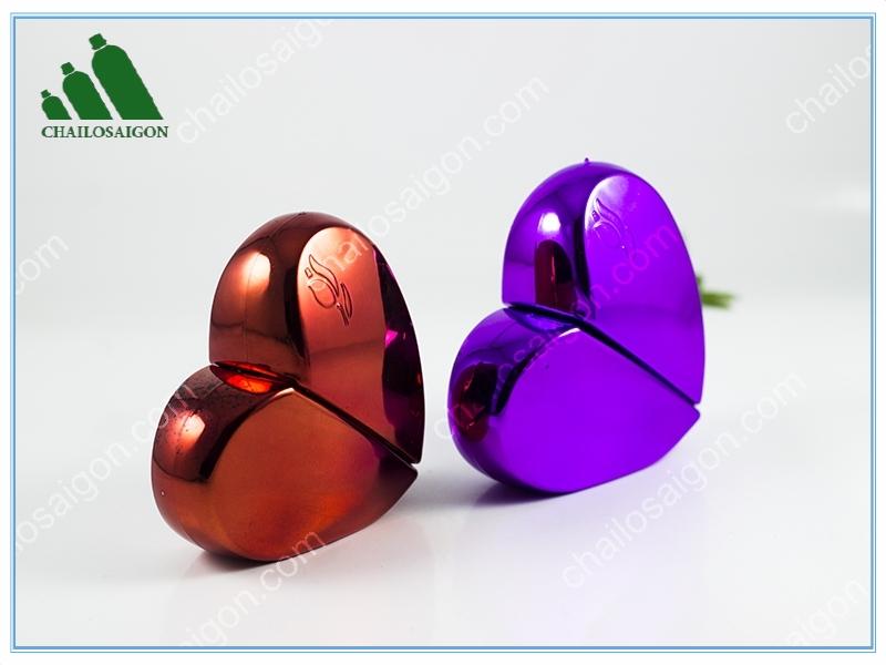 Lọ thủy tinh nước hoa trái tim cao cấp