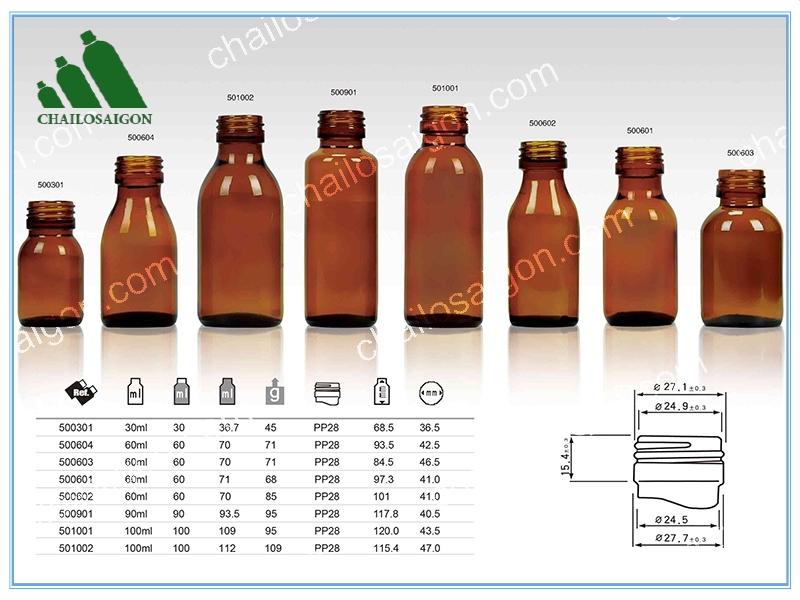 Bộ chai lọ tinh dầu nhiều kích thước
