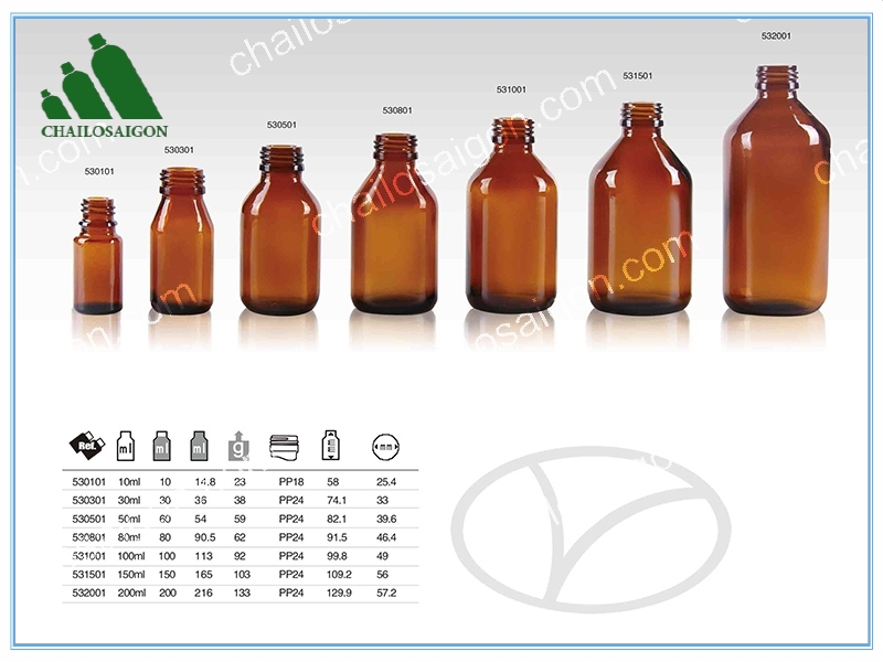 Chai lọ tinh dầu thủy tinh thông dụng