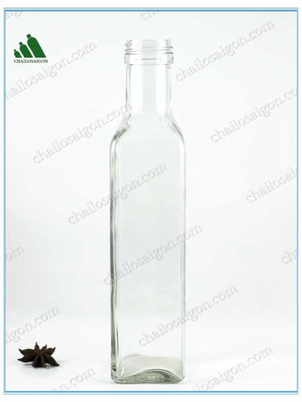 Chai thủy tinh đựng dầu ô-liu 250-500ml