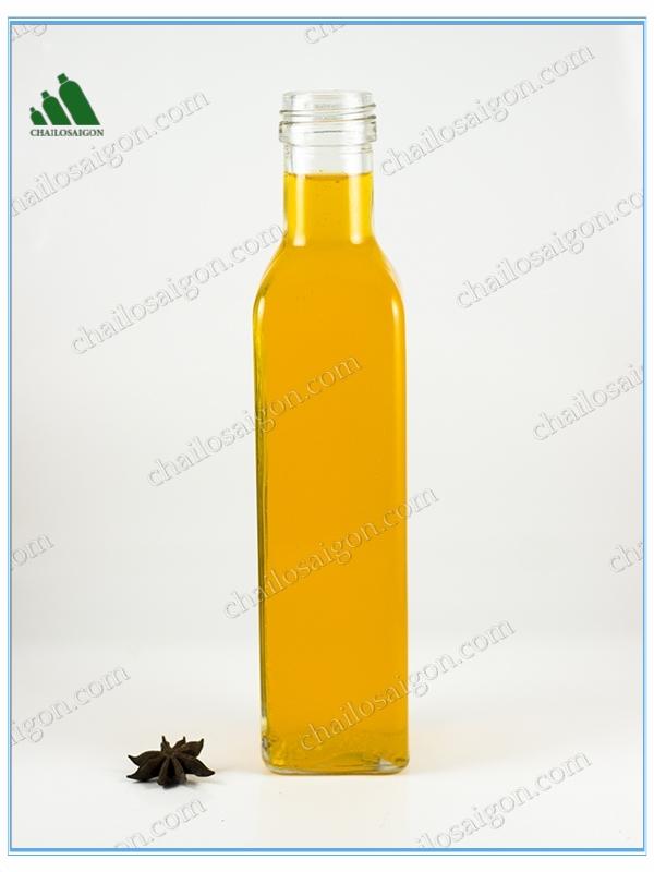 Chai dầu ô liu thủy tinh 500ml